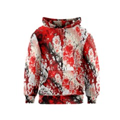Red Fractal Art Kids  Zipper Hoodie