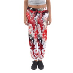 Red Fractal Art Women s Jogger Sweatpants