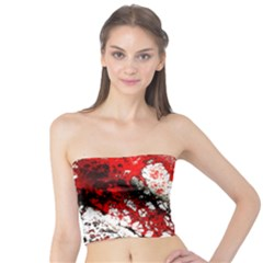 Red Fractal Art Tube Top