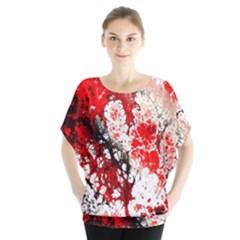 Red Fractal Art Blouse