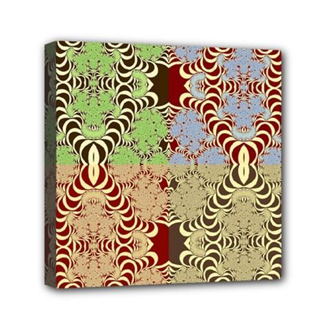 Multicolor Fractal Background Mini Canvas 6  X 6