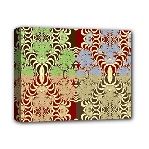 Multicolor Fractal Background Deluxe Canvas 14  X 11