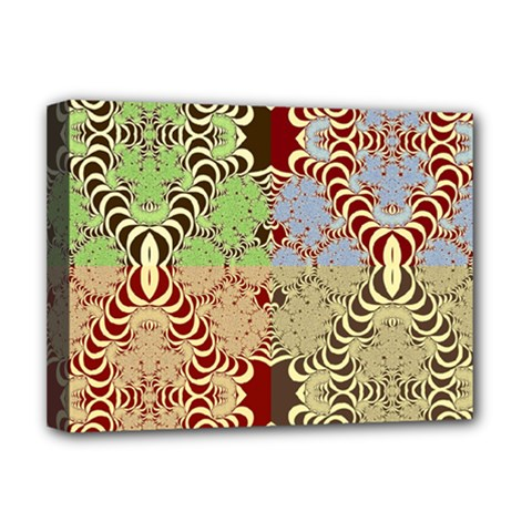 Multicolor Fractal Background Deluxe Canvas 16  X 12