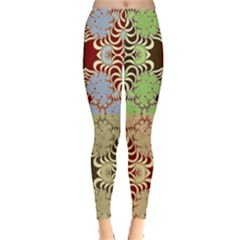 Multicolor Fractal Background Leggings