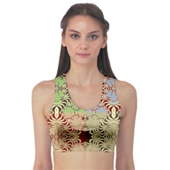 Multicolor Fractal Background Sports Bra