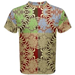 Multicolor Fractal Background Men s Cotton Tee