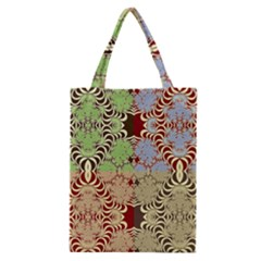 Multicolor Fractal Background Classic Tote Bag