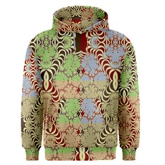 Multicolor Fractal Background Men s Pullover Hoodie