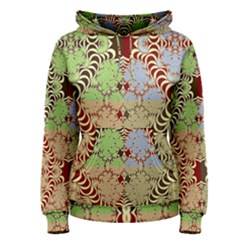 Multicolor Fractal Background Women s Pullover Hoodie