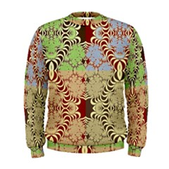 Multicolor Fractal Background Men s Sweatshirt