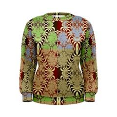 Multicolor Fractal Background Women s Sweatshirt