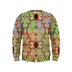 Multicolor Fractal Background Kids  Sweatshirt