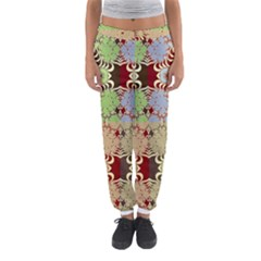 Multicolor Fractal Background Women s Jogger Sweatpants