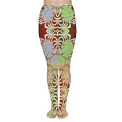 Multicolor Fractal Background Women s Tights