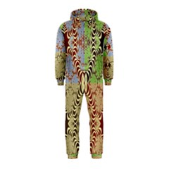 Multicolor Fractal Background Hooded Jumpsuit (Kids)
