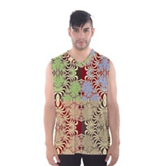 Multicolor Fractal Background Men s Basketball Tank Top