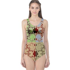 Multicolor Fractal Background One Piece Swimsuit