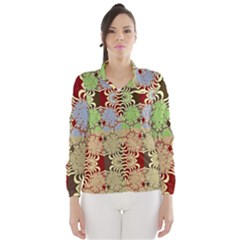 Multicolor Fractal Background Wind Breaker (Women)