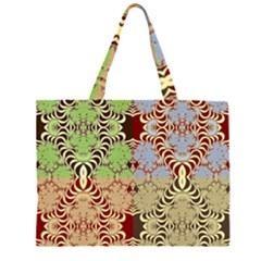Multicolor Fractal Background Large Tote Bag