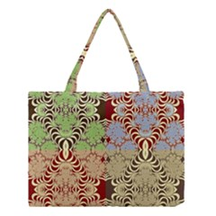 Multicolor Fractal Background Medium Tote Bag