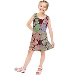 Multicolor Fractal Background Kids  Tunic Dress