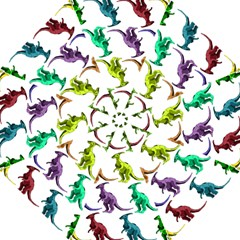 Multicolor Dinosaur Background Straight Umbrellas