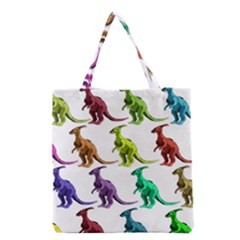 Multicolor Dinosaur Background Grocery Tote Bag