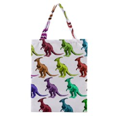 Multicolor Dinosaur Background Classic Tote Bag