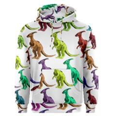 Multicolor Dinosaur Background Men s Pullover Hoodie