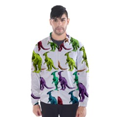 Multicolor Dinosaur Background Wind Breaker (Men)