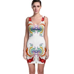 Fractal Kaleidoscope Of A Dragon Head Sleeveless Bodycon Dress