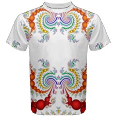 Fractal Kaleidoscope Of A Dragon Head Men s Cotton Tee