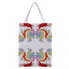 Fractal Kaleidoscope Of A Dragon Head Classic Tote Bag