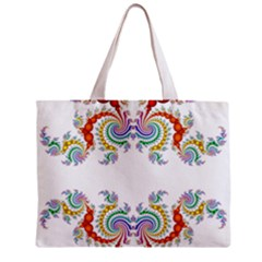 Fractal Kaleidoscope Of A Dragon Head Zipper Mini Tote Bag