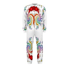 Fractal Kaleidoscope Of A Dragon Head Onepiece Jumpsuit (kids)