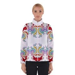 Fractal Kaleidoscope Of A Dragon Head Winterwear
