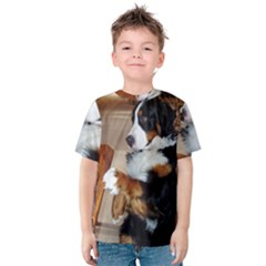 Bernese Mountain Dog Begging Kids  Cotton Tee