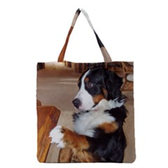 Bernese Mountain Dog Begging Grocery Tote Bag