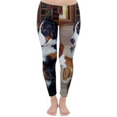 Bernese Mountain Dog Begging Classic Winter Leggings