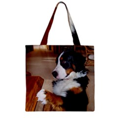 Bernese Mountain Dog Begging Zipper Grocery Tote Bag