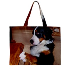 Bernese Mountain Dog Begging Zipper Mini Tote Bag