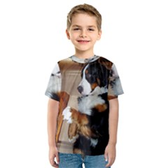 Bernese Mountain Dog Begging Kids  Sport Mesh Tee