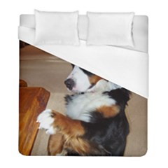 Bernese Mountain Dog Begging Duvet Cover (Full/ Double Size)