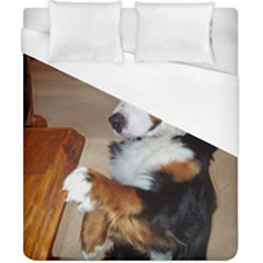 Bernese Mountain Dog Begging Duvet Cover (California King Size)