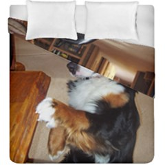 Bernese Mountain Dog Begging Duvet Cover Double Side (King Size)