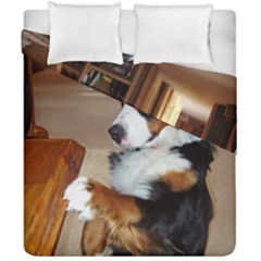 Bernese Mountain Dog Begging Duvet Cover Double Side (California King Size)