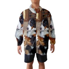Bernese Mountain Dog Begging Wind Breaker (Kids)