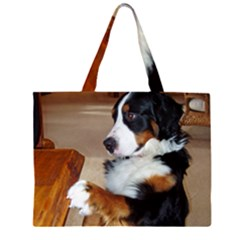 Bernese Mountain Dog Begging Large Tote Bag