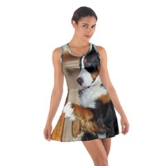 Bernese Mountain Dog Begging Cotton Racerback Dress