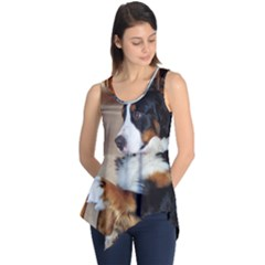 Bernese Mountain Dog Begging Sleeveless Tunic